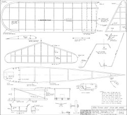 Flying Aces Stick model airplane plan