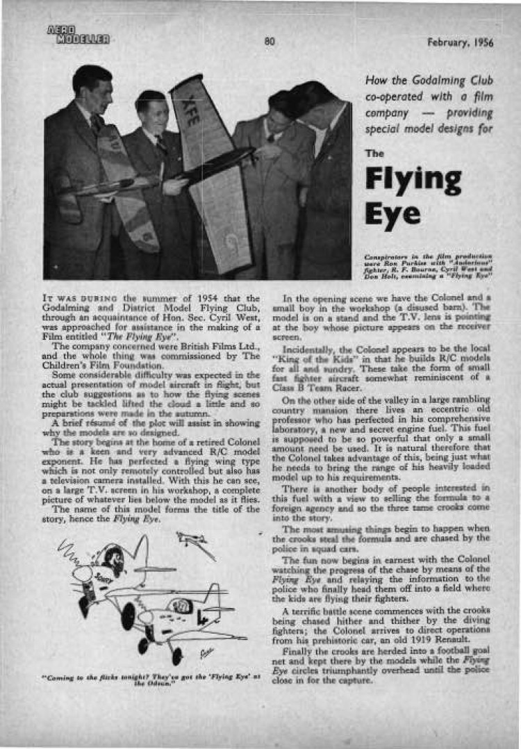 Flying Eye model airplane plan