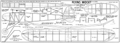 Flying Midget 25in model airplane plan