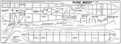 Flying Midget 25in model airplane plan