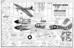 Flying Tiger model airplane plan
