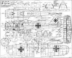 Focke-Wulf-190 35in model airplane plan