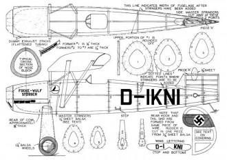 Focke-Wulf Stosser model airplane plan