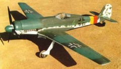 Focke Wulf TA-152H model airplane plan