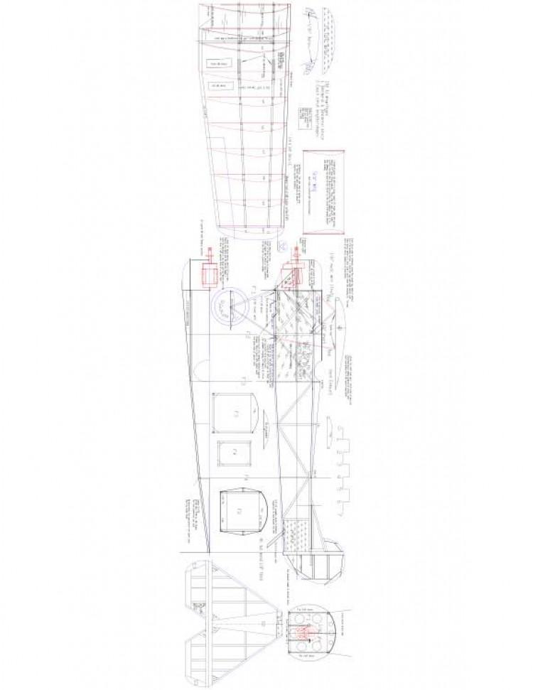 Focker d8 Model 1 model airplane plan
