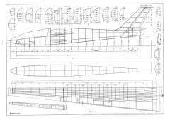 SZD 24 Foka model airplane plan