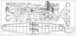 Fokker C-14 Transport model airplane plan