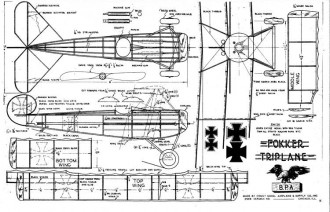 Fokker DR1 - Triplane model airplane plan