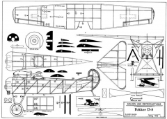 FokkerD-8 model airplane plan