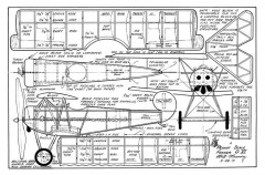 Fokker D-6 Walt Mooney model airplane plan