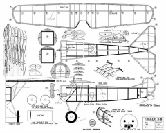 Fokker D-8 Hunt 17in model airplane plan
