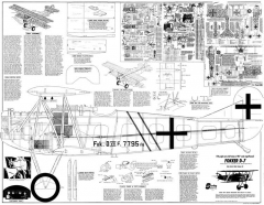 Fokker D7 RC model airplane plan