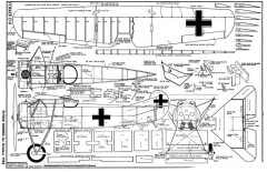 Fokker D8 2 model airplane plan