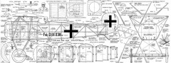 Fokker DVIII Flying Razor model airplane plan