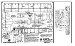 Fokker DVII bmp 2 model airplane plan