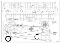 Fokker Dr1 Triplane model airplane plan