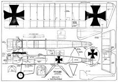 Fokker Eindecker model airplane plan