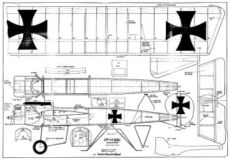 Fokker Eindecker model airplane plan