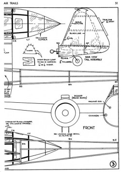 Fokker G-1 p3 model airplane plan