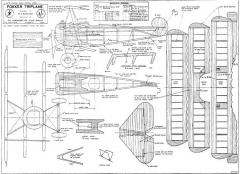 Fokker Triplane model airplane plan