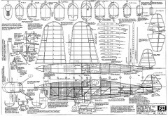 Folkerts SK-3 Jupiter model airplane plan
