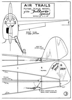 Folkerts p3 model airplane plan