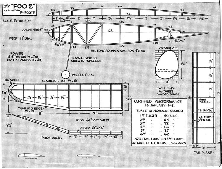 Foo 2 model airplane plan