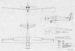 Fournier 3 model airplane plan
