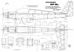 Fournier RF-4D model airplane plan