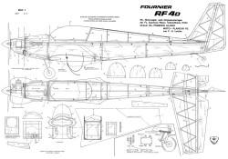 Fournier RF-4D model airplane plan