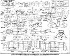 Fox Moth model airplane plan