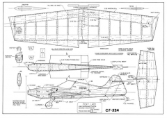 Foxy Lady model airplane plan