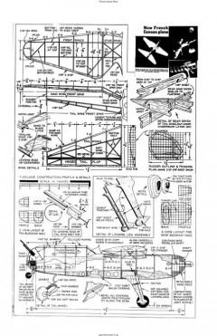 French Cannon Plane model airplane plan