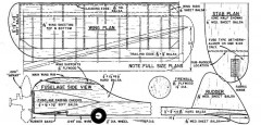 Frisky Free Flight. model airplane plan