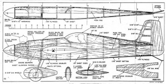 Frisky Pete model airplane plan