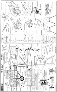 Frog SE5A model airplane plan