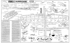 Frog Hurricane model airplane plan