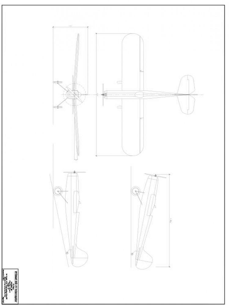 Frog Interceptor MkIV Shoulder model airplane plan