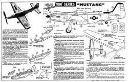 Hales Frogflite Mini Series Mustang model airplane plan