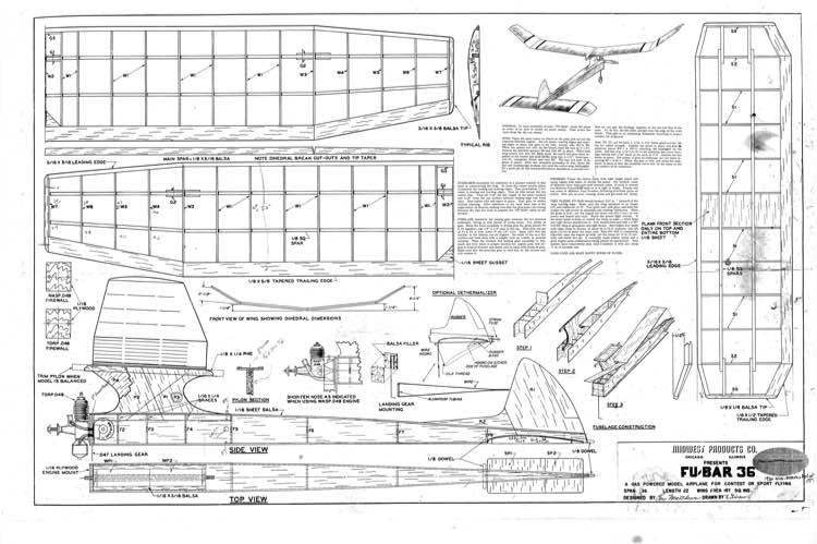Fubar model airplane plan