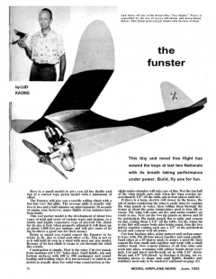 Funster model airplane plan