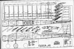 Fusca 40 model airplane plan
