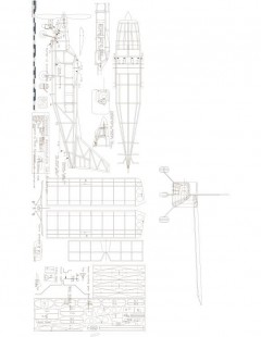 GA-8 Airvan 22in Model 1 model airplane plan