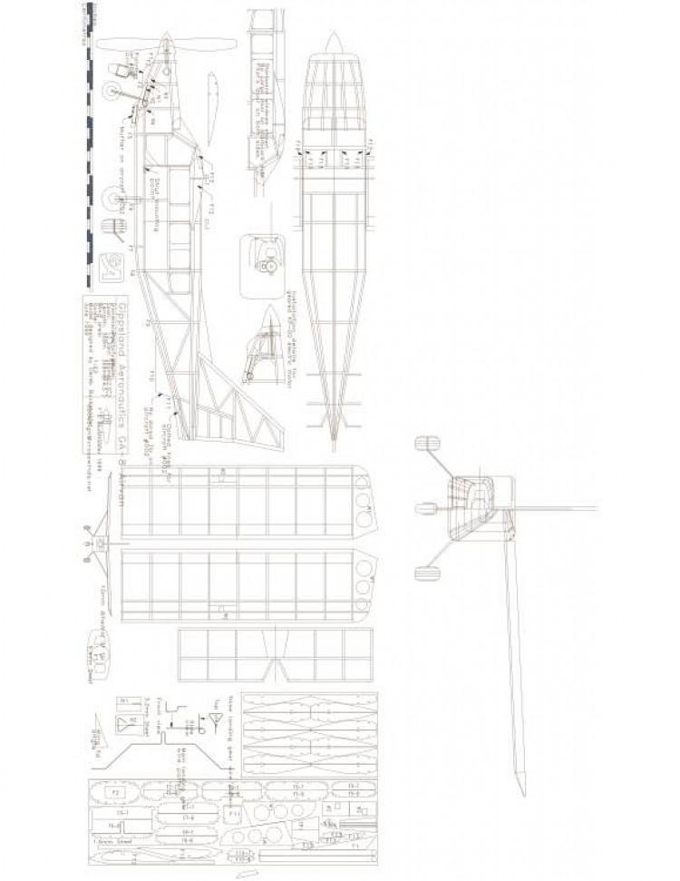 GA-8 Airvan 22in Model 1 model airplane plan