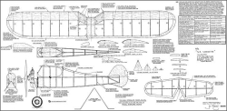 GE Cabinette 1942 (retified by Joe Wagner 1964) model airplane plan
