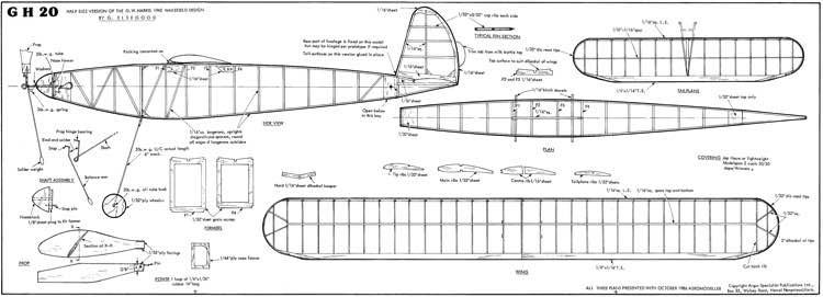 GH 20 model airplane plan