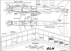 GLH II model airplane plan