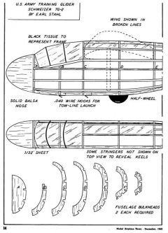 Schweitzer TG-2 model airplane plan