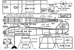 Gadfly (Rubber Scale) model airplane plan