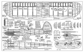 Galloping model airplane plan